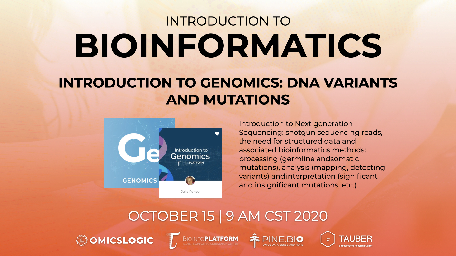 Introduction to bioinformatics - Session 2